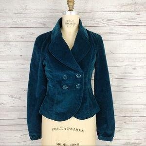 Tulle blue teal corduroy blazer jacket